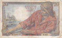 France 20 Francs Pêcheur - 05-11-1942 Série V.47 - TB