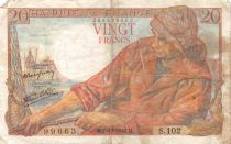 France 20 Francs Pêcheur - 07-10-1943 Série S.102 - TB+
