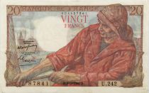 France 20 Francs Pêcheur - 09-02-1950 Série U.242 - TTB