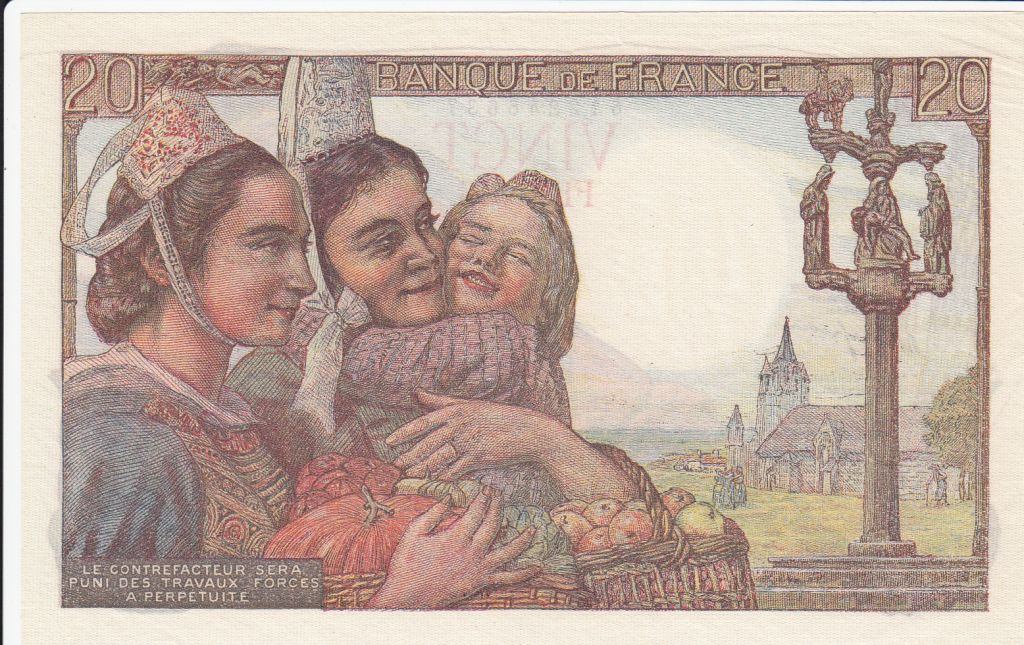 France 20 Francs Pêcheur - 09-02-1950 Série Y.245