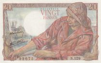 France 20 Francs Pêcheur - 17-05-1944 Série N.129