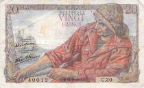 France 20 Francs Pêcheur - 21-05-1942 Série C.30 - TB