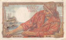 France 20 Francs Pêcheur - 24-09-1942 Série R.45 - TTB