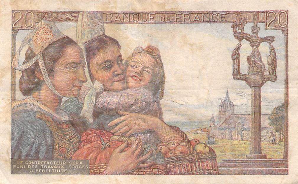 France 20 Francs Pêcheur - 24-09-1942 Série X.43 - TB