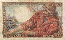 France 20 Francs Pêcheur - 24-09-1942 Série Y.38 - TB+