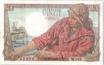 France 20 Francs Pêcheur - 29-01-1948 Série W.163