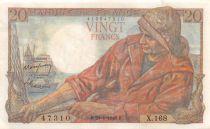 France 20 Francs Pêcheur - 29-01-1948 Série X.168 - TTB+