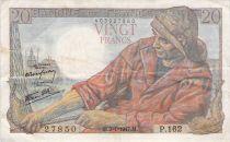 France 20 Francs Pêcheur - Années variées 1942-1950 - TTB