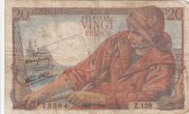 France 20 Francs Pêcheur 05-07-1945 - Série Z.138