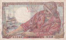 France 20 Francs Pêcheur 10-02-1944 - Série V.118 - TB