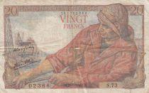 France 20 Francs Pêcheur 28-01-1943 - Série S.73