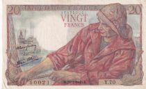 France 20 Francs Pêcheur 28-01-1943 - Série X.66Y.70 - SUP