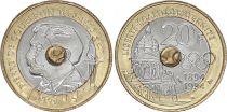France 20 Francs Pierre de Coubertin - 1994  Bimétal - SUP +