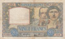 France 20 Francs Science and Industry - 03-04-1941 Serial F.3307 - VF