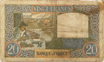 France 20 Francs Science and Industry - 03-04-1941 Serial L.3614 - VG to F