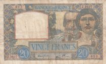 France 20 Francs Science and Industry - 03-04-1941 Serial Z.3637- VF