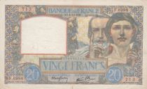 France 20 Francs Science and Industry - 04-12-1941 Serial F.6998 - VF