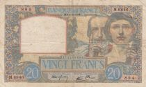 France 20 Francs Science and Industry - 04-12-1941 Serial M.6846- VF