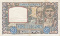 France 20 Francs Science and Industry - 07-12-1939 Serial G.187 - VF