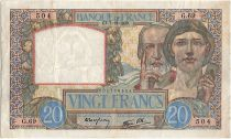 France 20 Francs Science and Industry - 07-12-1939 Serial G.69