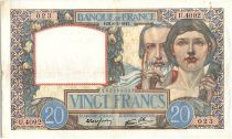 France 20 Francs Science and Industry - 08-05-1941 Serial U.4092