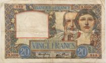 France 20 Francs Science and Industry - 17-07-1941 Serial X.5008 - VF