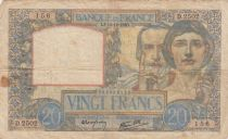 France 20 Francs Science and Industry - 19-12-1940 Serial D.2502 - F