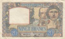 France 20 Francs Science and Industry - 19-12-1940 Serial E.2545 - VF