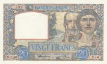 France 20 Francs Science and Industry - 20-02-1941 Serial B.3056