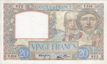 France 20 Francs Science and Industry - 22-08-1940 Serial F.916