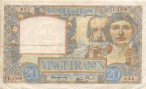 France 20 Francs Science and Industry - 28-08-1941 Serial P.5569 - VF