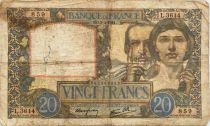 France 20 Francs Science et Travail - 03-04-1941 Série L.3614 - PTB