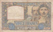 France 20 Francs Science et Travail - 03-04-1941 Série V.3659
