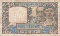 France 20 Francs Science et Travail - 03-04-1941 Série Z.3637- TTB