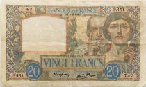 France 20 Francs Science et Travail - 06-06-1940 Série P.451 - TTB