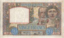 France 20 Francs Science et Travail - 07-12-1939 Série G.69
