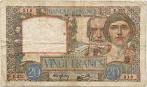 France 20 Francs Science et Travail - 07-12-1939 Série K.250 - TB