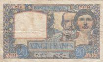 France 20 Francs Science et Travail - 08-01-1942 Série T.7214 - DATE RARE