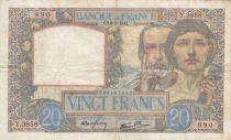 France 20 Francs Science et Travail - 08-05-1941 Série Y.3858 - TB+