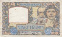 France 20 Francs Science et Travail - 11-06-1941 Série D.4239