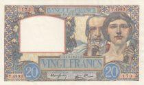 France 20 Francs Science et Travail - 17-07-1941 Série T.4993 - TTB+