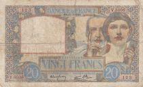 France 20 Francs Science et Travail - 17-07-1941 Série V.5005 - TB