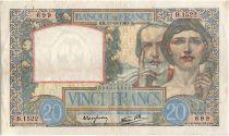 France 20 Francs Science et Travail - 17-10-1940 Série B.1522