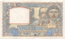 France 20 Francs Science et Travail - 17-10-1940 Série O.1575 - TTB