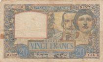 France 20 Francs Science et Travail - 19-12-1940 Série D.2502 - TB