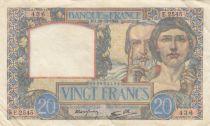 France 20 Francs Science et Travail - 19-12-1940 Série E.2545 - TTB
