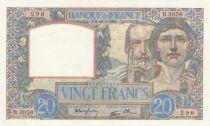 France 20 Francs Science et Travail - 20-02-1941 Série B.3056