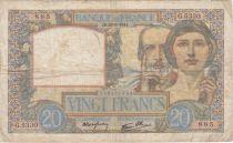 France 20 Francs Science et Travail - 28-08-1941 Série G.5330 - TB