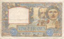 France 20 Francs Science et Travail - 28-08-1941 Série P.5569 - TTB