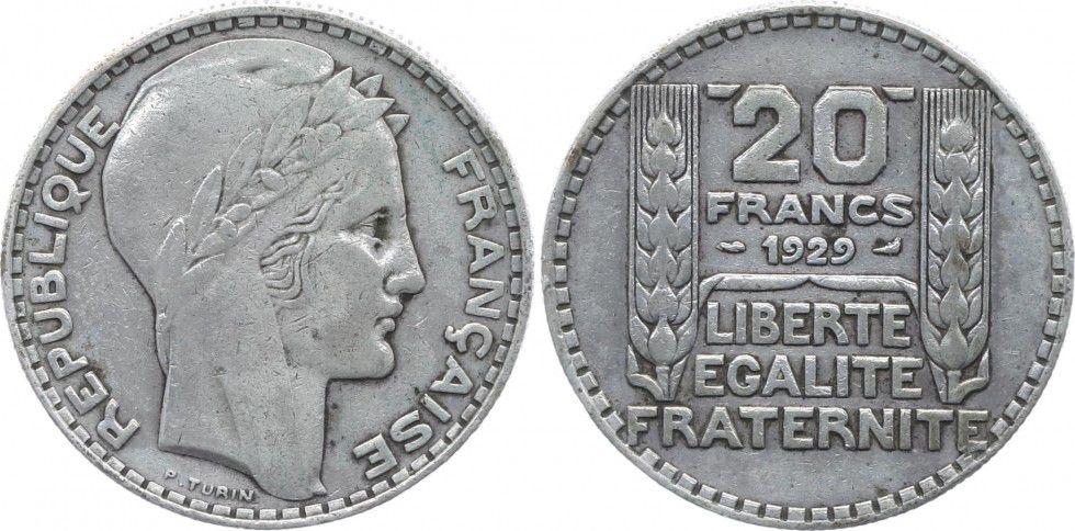 France 20 Francs Turin - 1929
